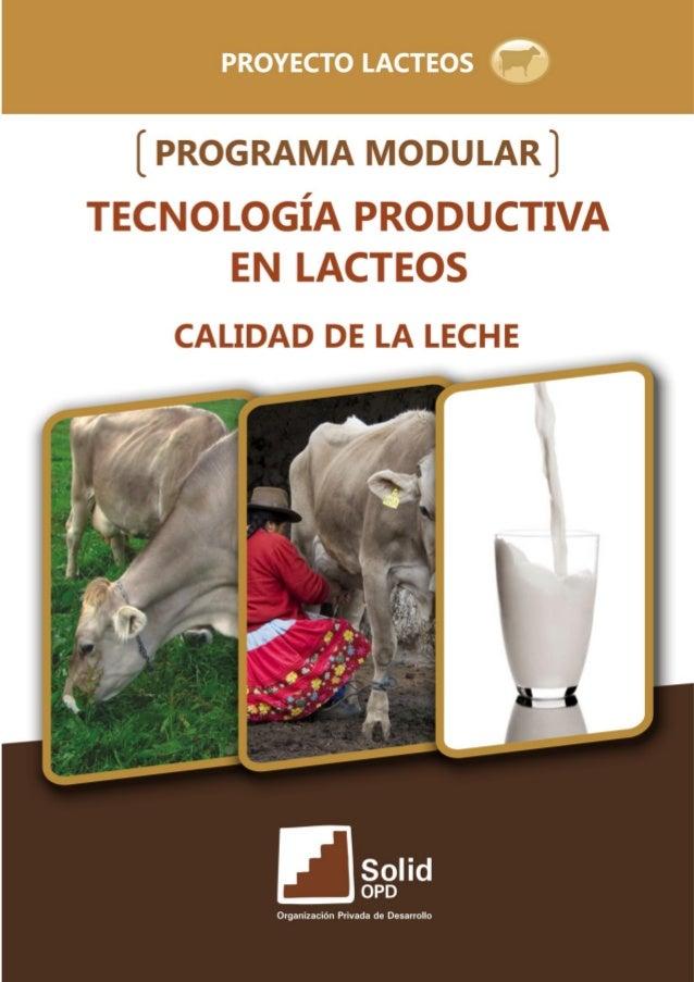 Calidad de la leche