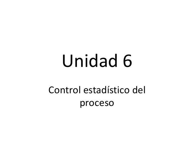 Calidad  unidad 6