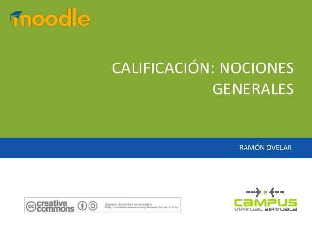 Calificación en Moodle 1.9: unos apuntes de introducción