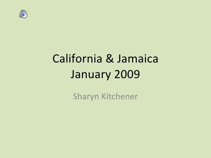 California & Jamaica January 2009 Sharyn Kitchener