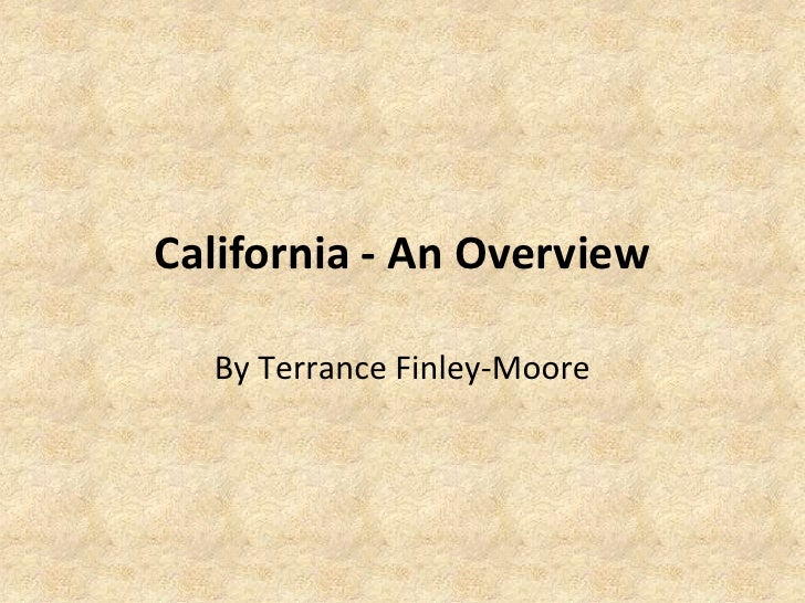 California: An Overview