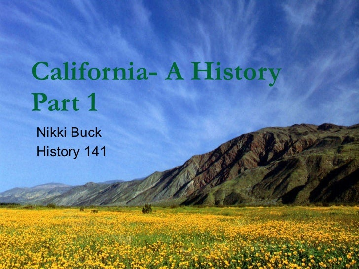 California  a history part 1