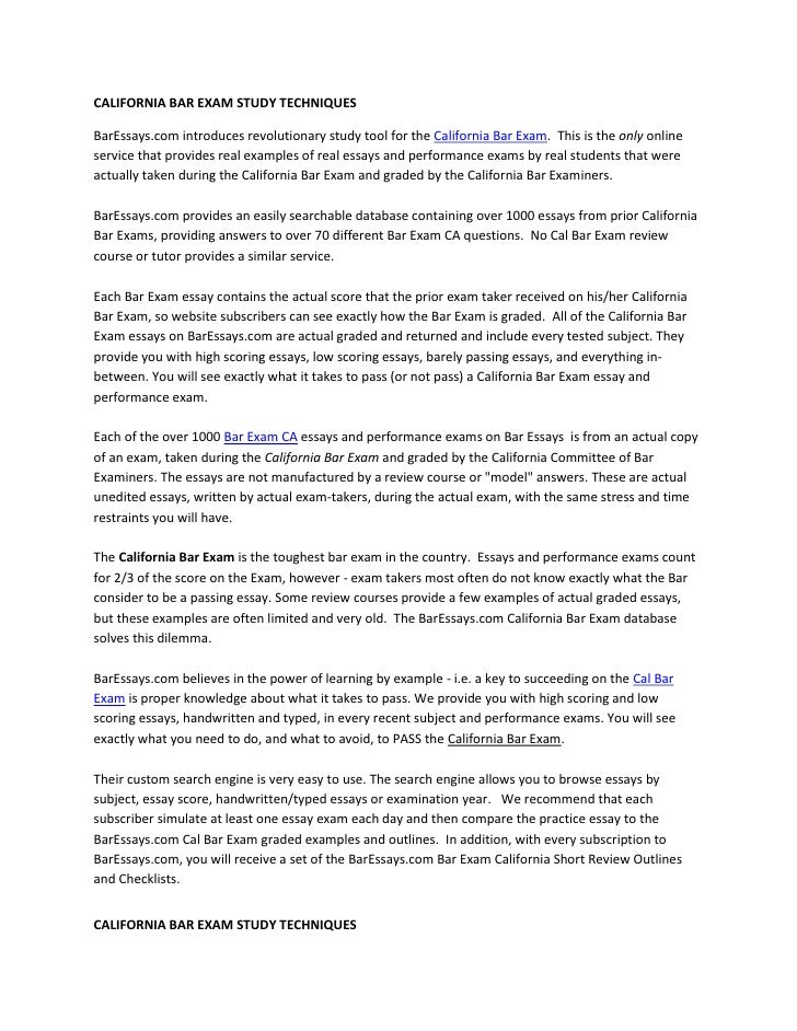 Trusts sample bar essays