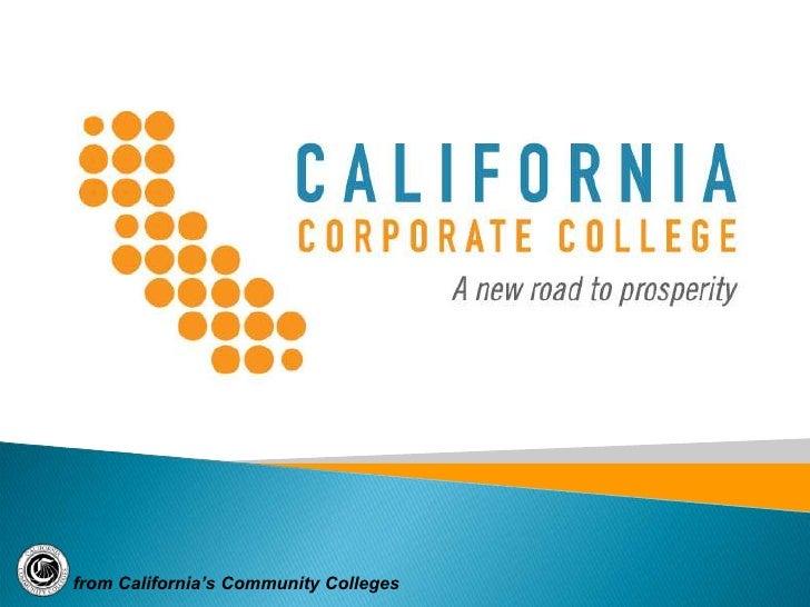 California Corporate College Consortia 011910