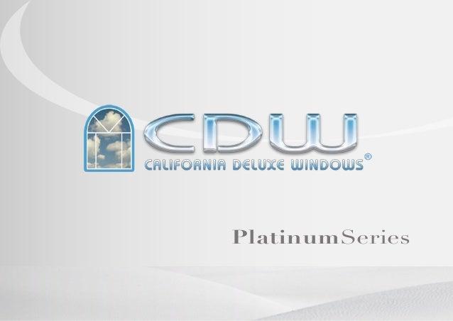 California deluxe windows bronchure
