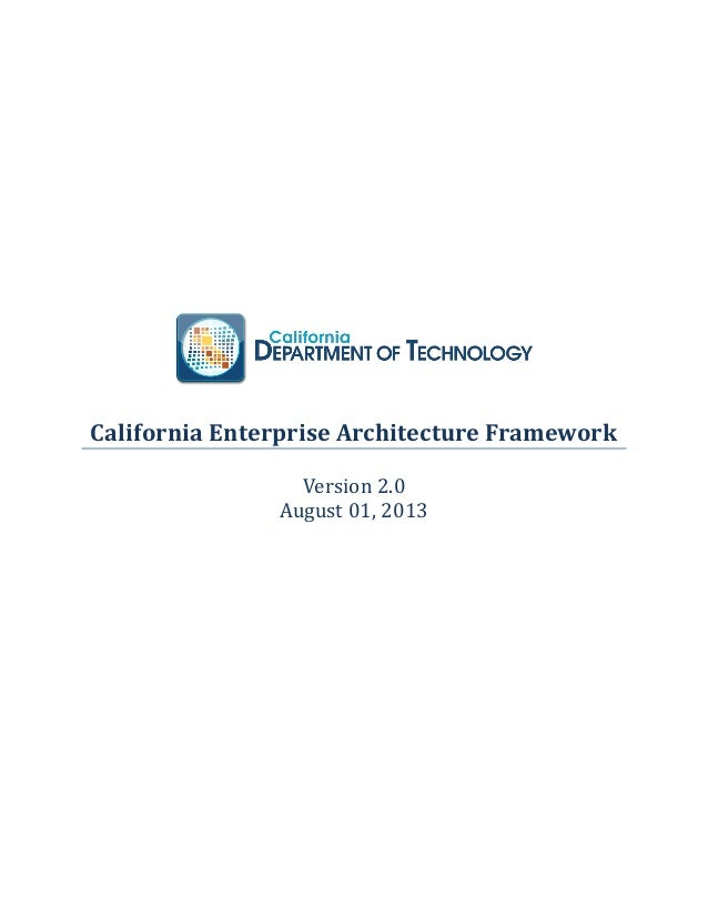 California enterprise architecture_framework_2_0