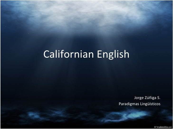 Californian english