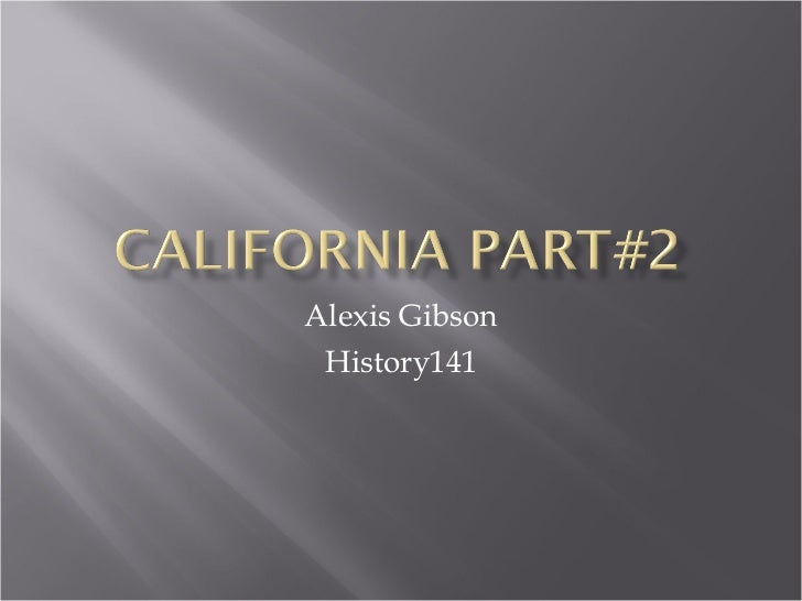 Alexis Gibson History141