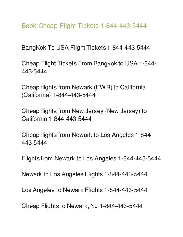 airline tickets to california