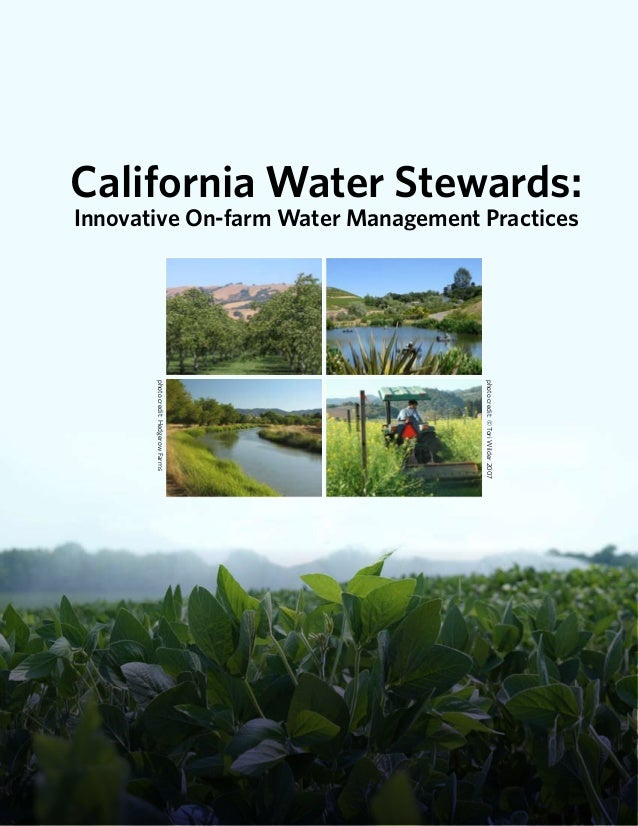 California Water Stewards: Innovative On-Farm Water Management Practices