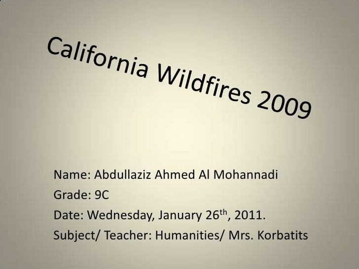 California Wildfires 2009