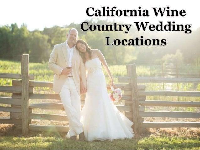 California wine country wedding locations