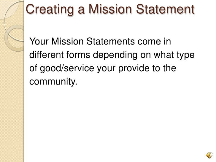 the different ways of accomplishing missions Mission statements: importance, challenge, and recommendations for development (abridged) source: business horizons, may/jun92, vol 35 issue 3, p34, 9p.
