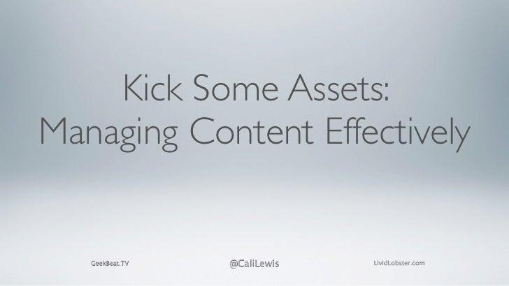 Cali Lewis -- Kick Some Assets