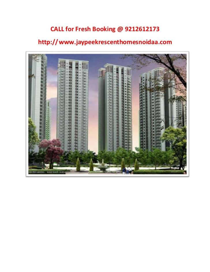 Call Now For Jaypee krescent Homes@9212612173