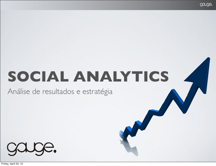 SOCIAL ANALYTICS     Análise de resultados e estratégiaFriday, April 20, 12
