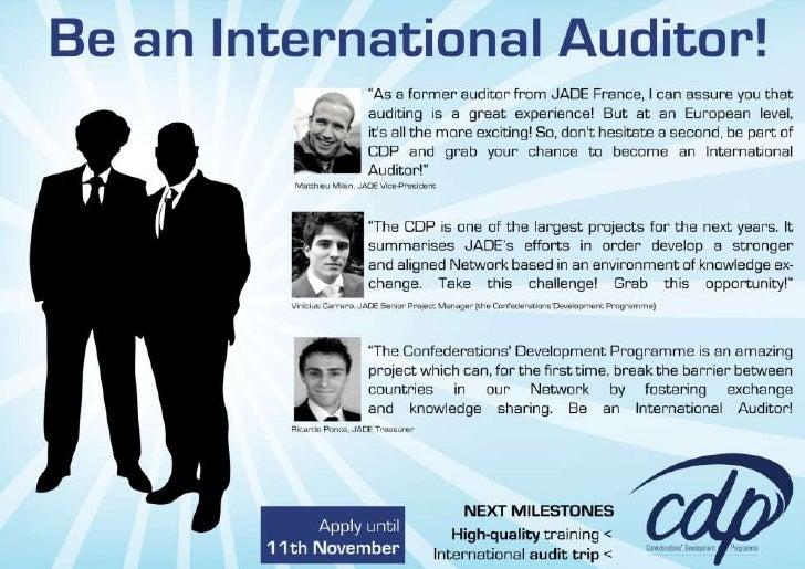Call for Junior Auditors! [JADE]