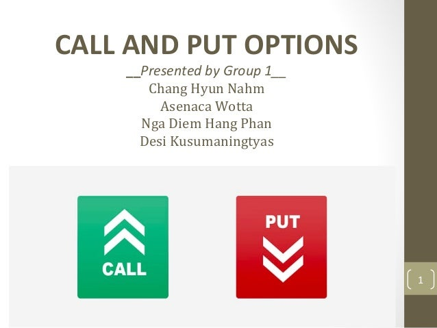 Binary call and put options