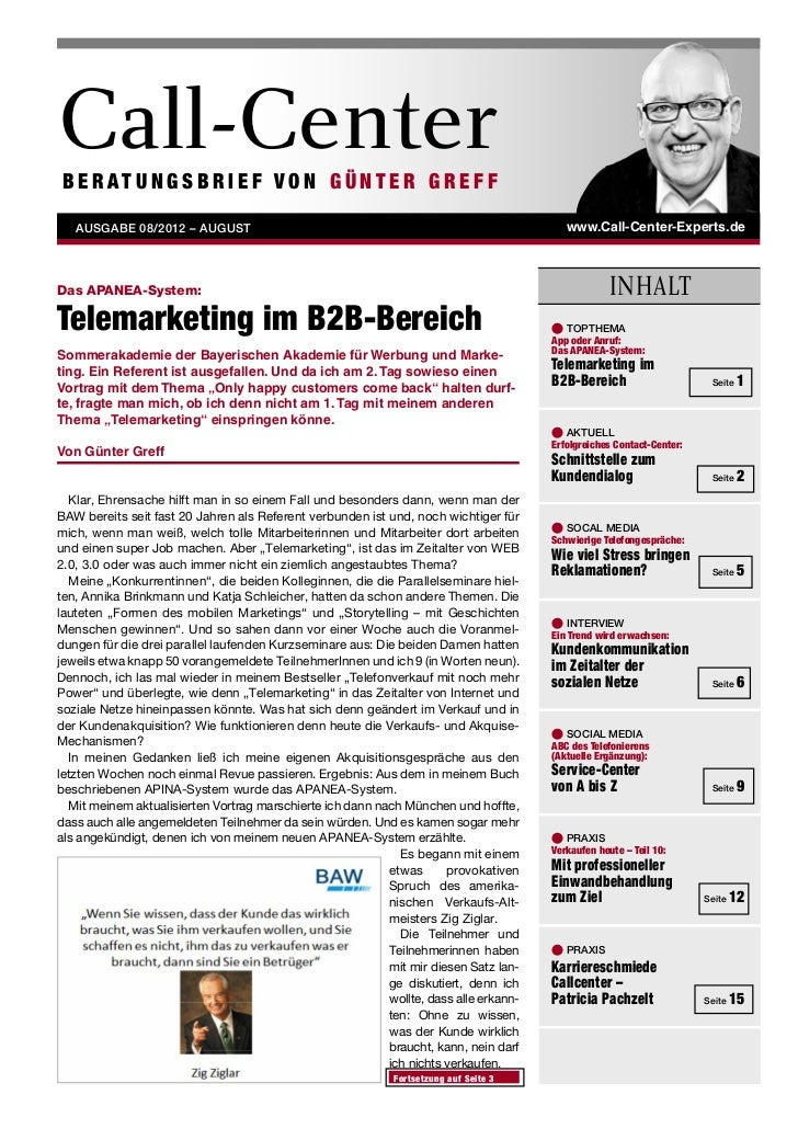 Greff Beratungsbrief - CallCenter Experts: Interview_201208