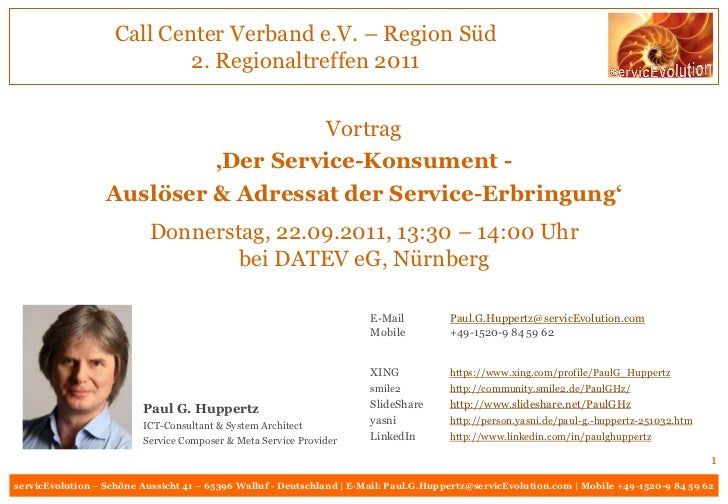 Call Center Verband e.V. – Region Süd                            2. Regionaltreffen 2011                                  ...
