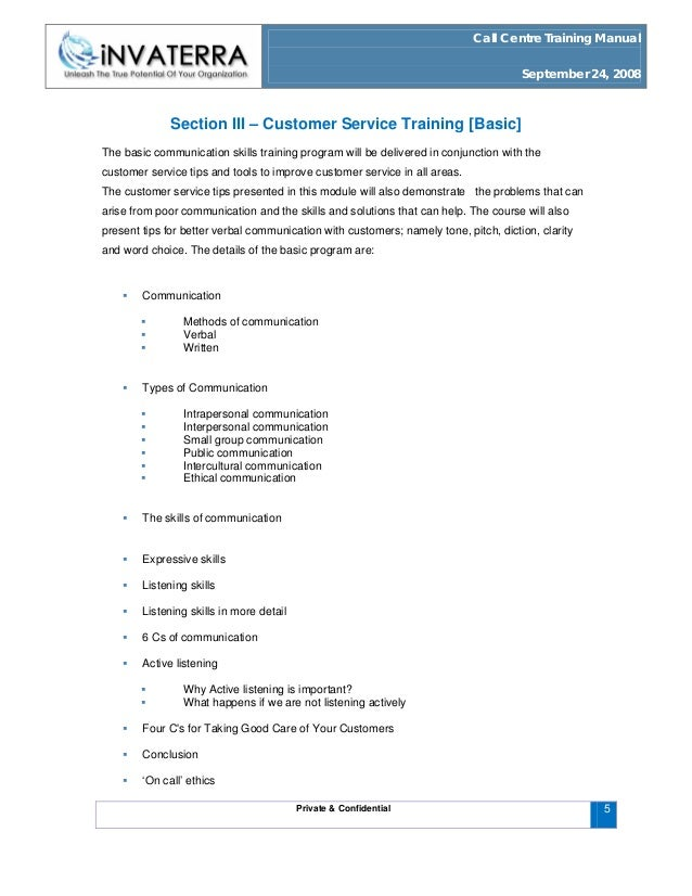 call centre training manual This call center training will help you to learn all about call center functioning and   carefully designed call center training manual giving you the complete.