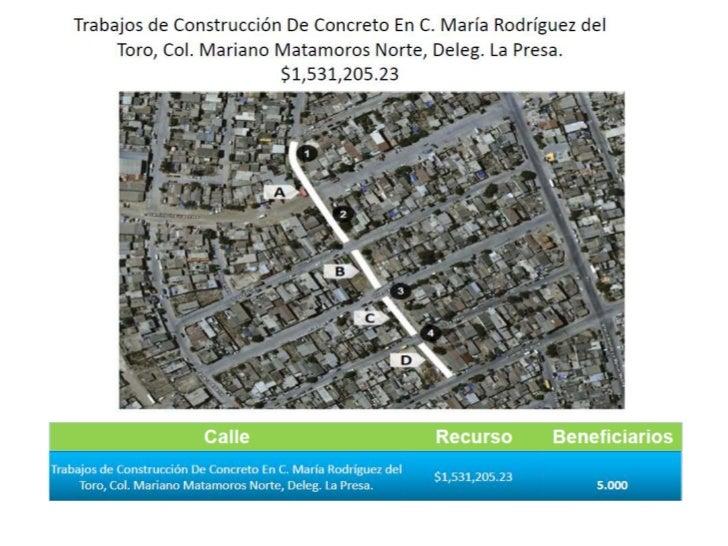 Pavimientación de la Calle Maria Rodríguez del Toro