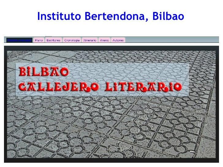 Callejero literario.IES Bertendona