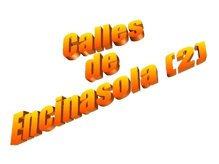 Calles de Encinasola (2)