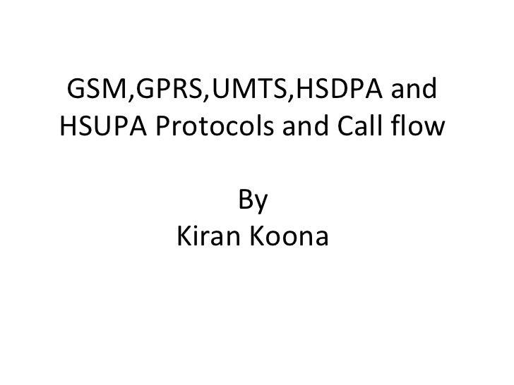 Call Flow Call Flows Gsm,gprs,umts