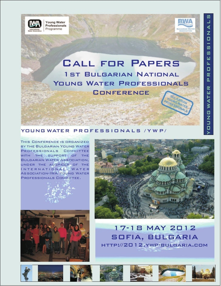 YOUNG WATER P R O F E S S I O N A L S                Call for Papers               1st Bulgarian National             Youn...