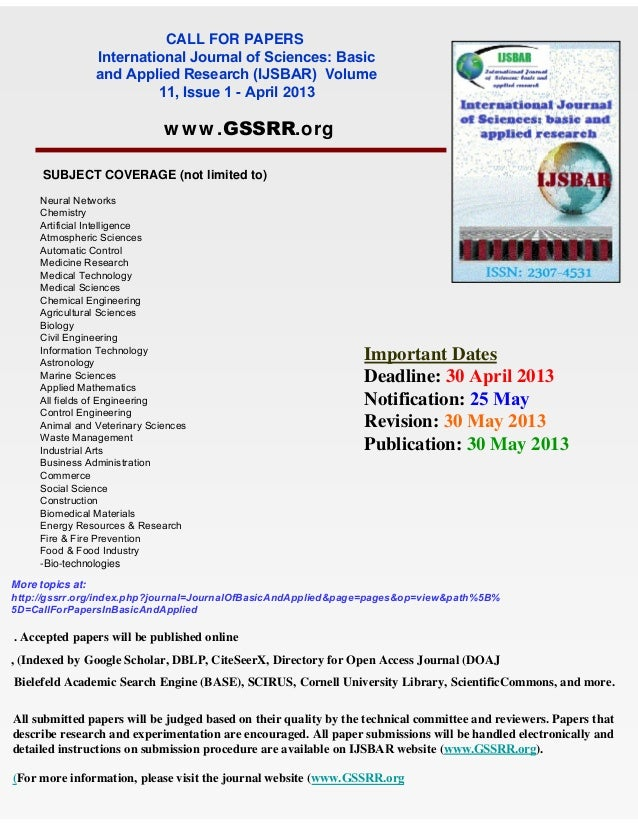 call for research papers 2013 Seminars, conferences, and call for papers  10th national natural language  processing research symposium  (conference date: dec 09 - 11, 2013.
