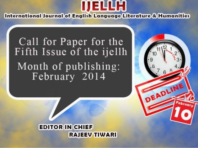call for research papers on english literature