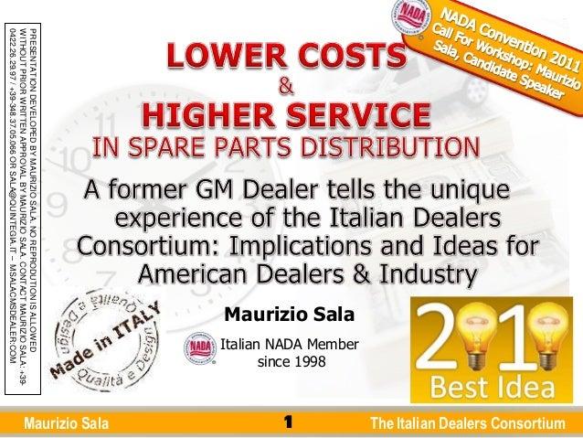 Call For Workshop Nada 2011   Italian Dealers Consortium