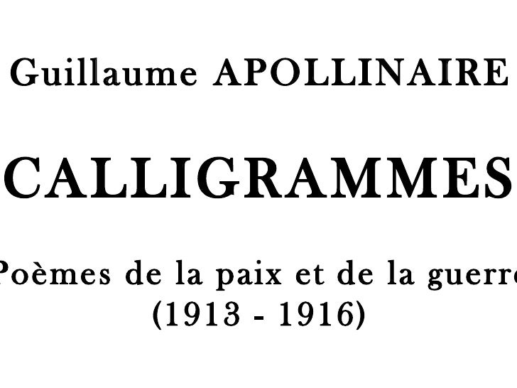 Calligrammes pps