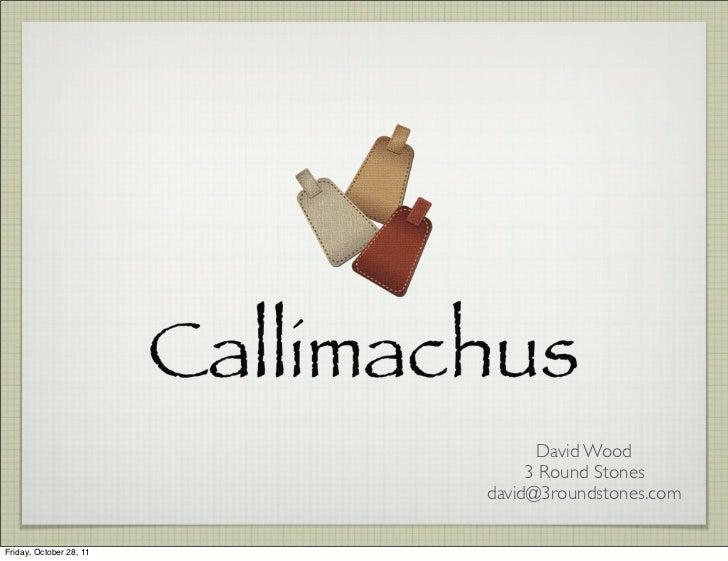 Callimachus introduction 20111021