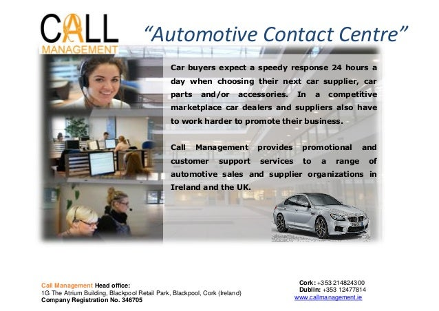 Car buyers expect a speedy response 24 hours aday when choosing their next car supplier, carparts and/or accessories. In a...
