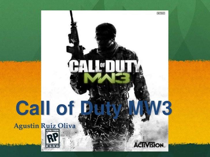 Call of Duty MW3Agustin Ruiz Oliva