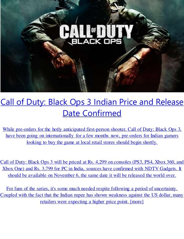 Call of duty 3 release date in Australia