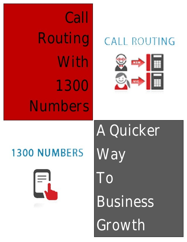 Call routing with 1300 numbers – a quicker way to business growth
