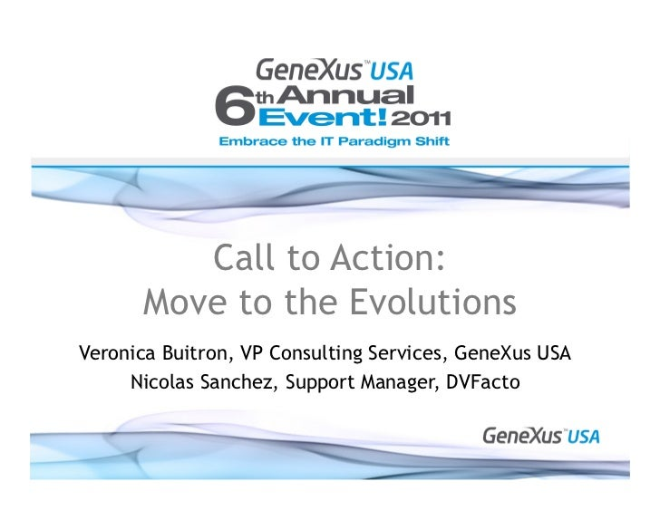 Call to action move to the evolutions