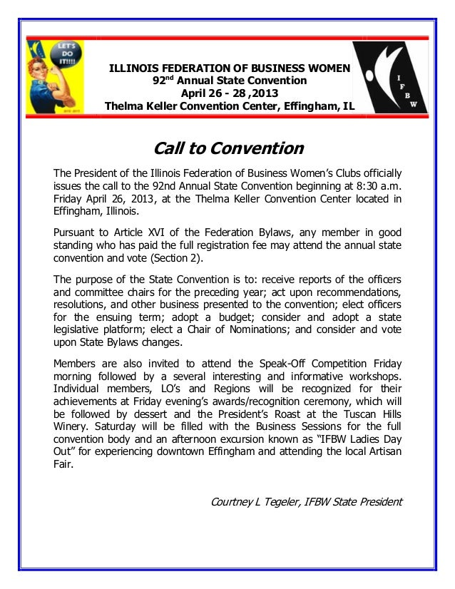 Call to convention 2013