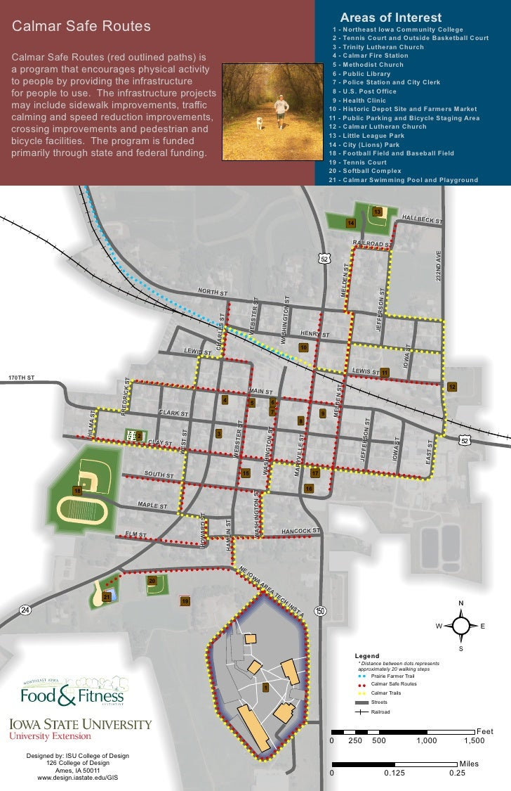 Areas of Interest  Calmar Safe Routes                                                                                     ...