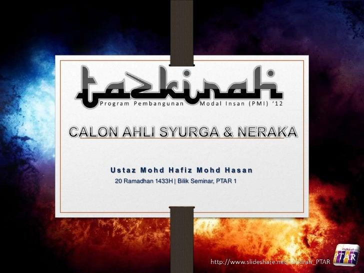 20 Ramadhan 1433H | Bilik Seminar, PTAR 1