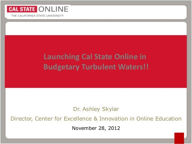 Cal state Online Update Overview DET/CHE 2012