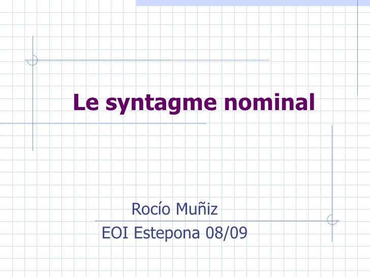 Le Syntagme Nominal