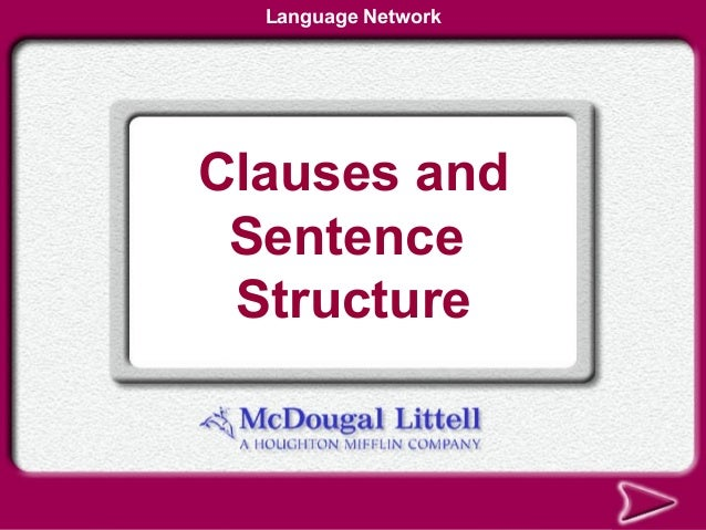 Language NetworkClauses and Sentence Structure