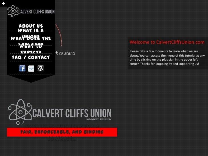 Calvert Cliffs Union Tutorial