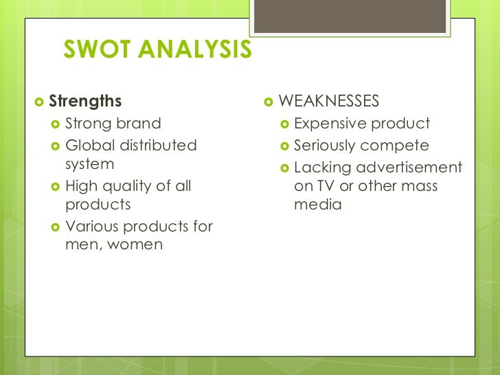 analyse swot mission