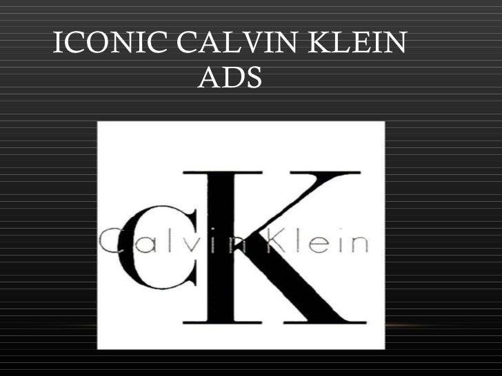 ICONIC CALVIN KLEIN ADS