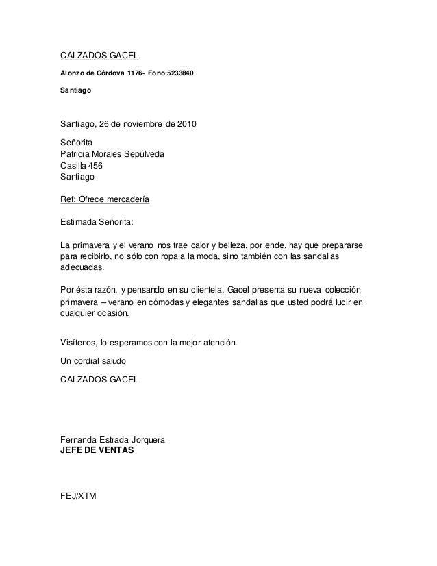 CALZADOS GACEL Alonzo de Córdova 1176- Fono 5233840 Santiago Santiago, 26 de noviembre de 2010 Señorita Patricia Morales S...
